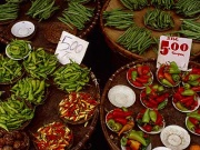 Varieties of chili for sale at Quiapo market